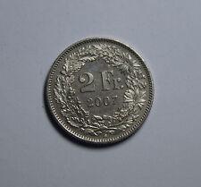 2  FR Franken Schweiz Switzerland Helvetia Münze 2007 B Coin TOP!