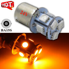 10Pcs DC 24V 1156 BA15S 5050 8SMD Yellow/Amber LED Car Turn Signal Light Bulbs