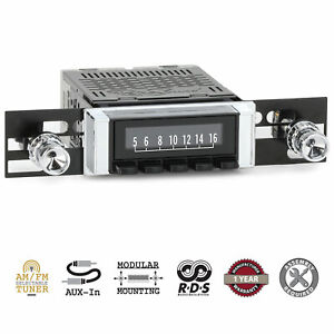 1964-66 Chevrolet C K Series Pickup RetroSound Laguna Radio AM/FM AUX RetroRadio