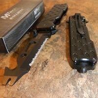 Couteau Multitools Pied de Biche Cutter Tournevis Mtech A/O Acier 5Cr14 MTA893BK