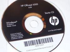 CD-ROM HP IMPRIMANTE OFFICEJET 6500 starter CB057-10004 windows 7 E709 13.0.0