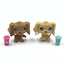 Littlest Pet Shop dog LPS toys #960and #748 2 spaniel dogs + 2  Accessories