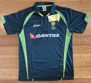 Cricket Australia Players Training Shirt asics Player Issue BNWT - Size L