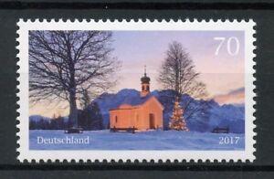 Germany 2017 MNH Christmas Maria Rast Chapel 1v Set Trees Churches Stamps