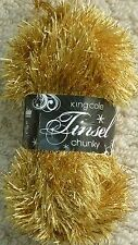 King Cole Tinsel Chunky 50gm Balls 29 Colours Single Postage 208 Gold