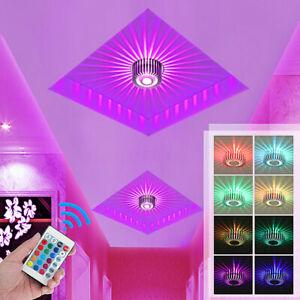 LED RGB Ceiling Light Panel Down Light Living Room Bedroom Kitchen Wall Lamp UK