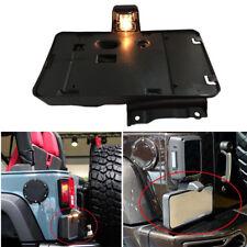 License Plate Frame Holder Bracket LED Tail Light Fit 07-2015 Jeep Wrangler JK