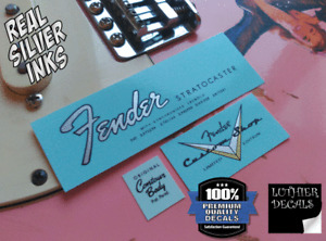Fender Stratocaster decal waterslide 1965-1966 (Silver)
