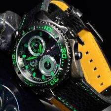 Herrenuhr Jay Baxter große Herren Armbanduhr in schwarz grün mit Chrono Look pa