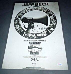 JEFF BECK~Signed~Loud Hailer~Original Promo Poster~PSA/DNA~Proof~Excellent 12x18