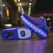 Glowing Sneakers With Wheels Roller Skates Usb Charging Sneakers