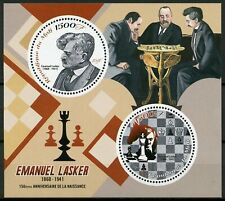 Mali 2018 MNH Emanuel Lasker 150th Birth Anniv 2v M/S Chess Games Sports Stamps