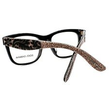DOLCE & GABBANA 3239-F 2998 Eyeglasses Glasses Black Texture ~ 52mm Asian Fit