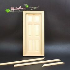 1/12 Dollhouse Miniature DIY Material Wooden Door interior