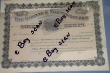 The Gowrie & Northwestern Railway Company Stock Certificate Vintage