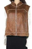 Tribal. Jeans Women's Jacket Brown Size XL Mixed Media Full Zip Up $88- #065