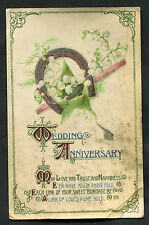 Posted 1922 (Rochester): Wedding Anniversary: Horse Shoe