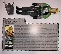 Psych out V1 with backpack and file card GI Joe cobra figure G. I. Joe 1987