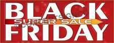 1.5'X4'  BLACK FRIDAY SUPER SALE BANNER Outdoor Sign Retail Sales Thanksgiving