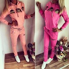 Women Casual Suits Monkey Tracksuit Sweatshirt Hoodie Sweat Pants Sport Set 2pcs