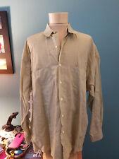 Burberrys Pale Green Long Sleeve Dress Shirt 16R