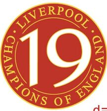 LIVERPOOL LEAGUE CHAMPIONS OF ENGLAND 19 TIMES ENAMEL FOOTBALL PIN BADGE - RED