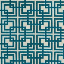 Maxwell Fabric Geometric Square Upholstery- Grand Central / Ocean 1.60 yd GB3105