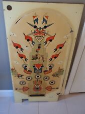 Exhibit Supply Co. 1940 Lancer Pinball Machine Playfield Best Americana Pop Art!