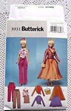 3931 SEWING PATTERN~UNCUT~BARBIE DOLL CLOTHES:LINED TOP&SKIRT&PANT&PURSE++