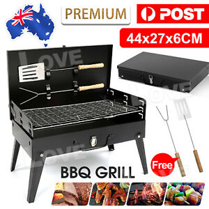 Charcoal BBQ Grill Hibachi Barbecue Portable Folding Steel Roast Camping Picnic