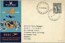 First Flight London - Sydney BOAC 1959