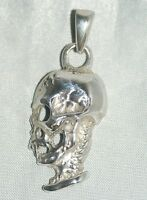 Skull Necklace Pendant [ 925 Sterling Silver ]