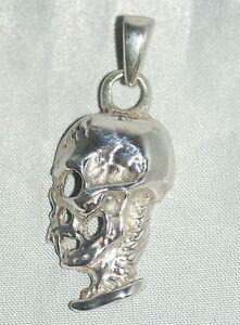 Skull Necklace Pendant [ 925 Sterling Silver ]