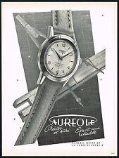1950's Vintage 1953 Aureole Swiss Watch Co. Modernist Empaytaz Art Print AD
