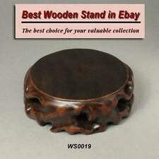 Wood Stand For Figurine, Netsuke Carving Display WS0019