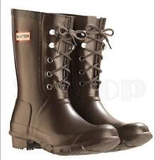 NEW Hunter Rain Boot Festival Lace Chocolate Brown Green 8 M   9 F   40   41 EU