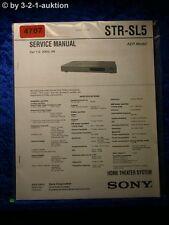 Sony Service Manual STR SL5 FM/AM Receiver  (#4707)