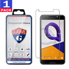 """GLASAVE Tempered Glass Screen Protector Saver For """"Alcatel A30 Fierce"""""""