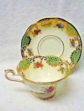Royal Albert Empress Series Josephine Green Panel Cup and Saucer