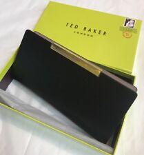Ted Baker Xhatch Texturd Bar Zip Around Matinee Purse Black