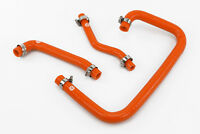 Silicone Crankcase Breather Hoses fits Land Rover Defender 300TDI Vacuum Orange
