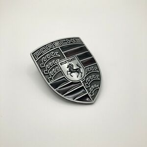 New Refinished Porsche Hood Crest Emblem/Badge-Jewelry Black Cayenne Boxster 911