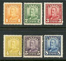 CANADA 1928-29 REGULAR ISSUE 1c - 8c NH #149-54