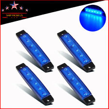 Blue Led Rock Lights 4Pods Underbody Wheel Light For Jeep Offroad Truck Utv Rzr