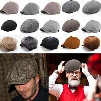 Newsboy Gatsby Cap Mens Ivy Hat Golf Driving Flat Cabbie Beret Driver Cotton Hat