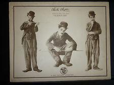 1918 CHARLIE CHAPLIN LOBBY CARD - A DOG'S LIFE - RARE VINTAGE CARD - SILENT ERA
