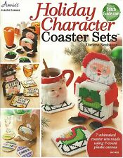 Holiday Character Coaster Sets Plastic Canvas Instruction Pattern Annie's Attic
