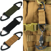 Outdoor Webbing Belt Clip Carabiner Buckle Tactical Bag Webbing Belt Clip Clasp