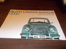 1961 Auto Union 1000 S Coupe Sales Brochure