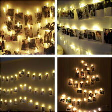 20LED Foto Clip Lichterkette Foto-Klipp String Lights Warmweiß Stimmungslicht